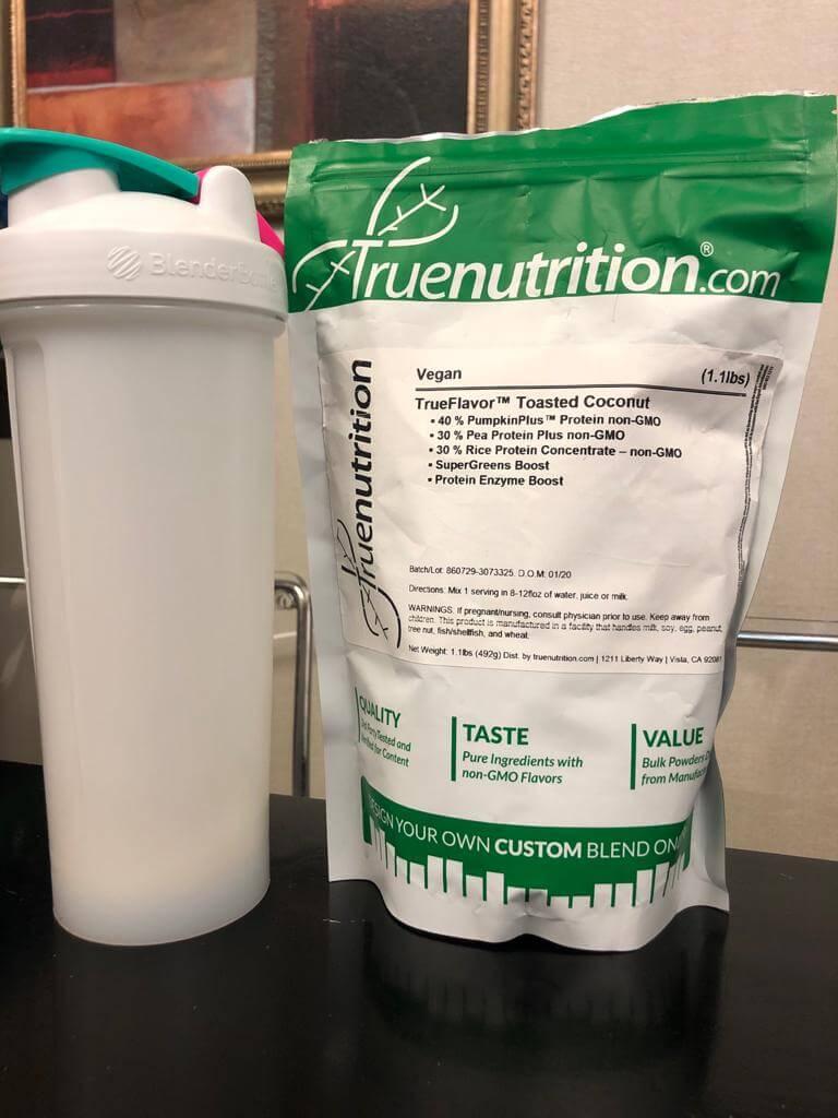 """Bebida proteínica vegana """"Truenutrition"""""""