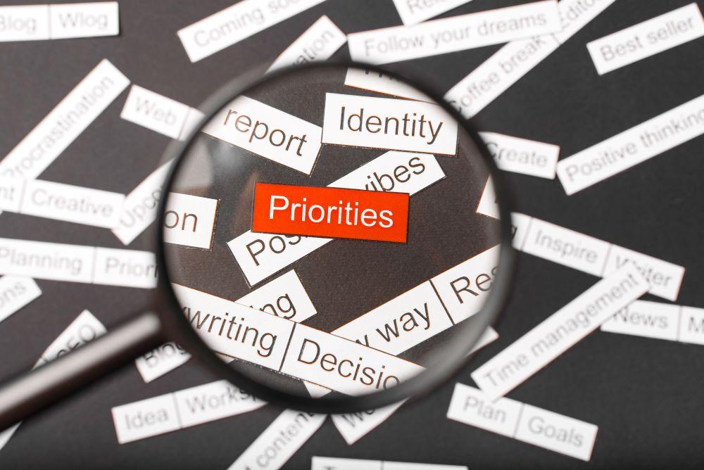 How to organize your priorities to obtain maximum results?
